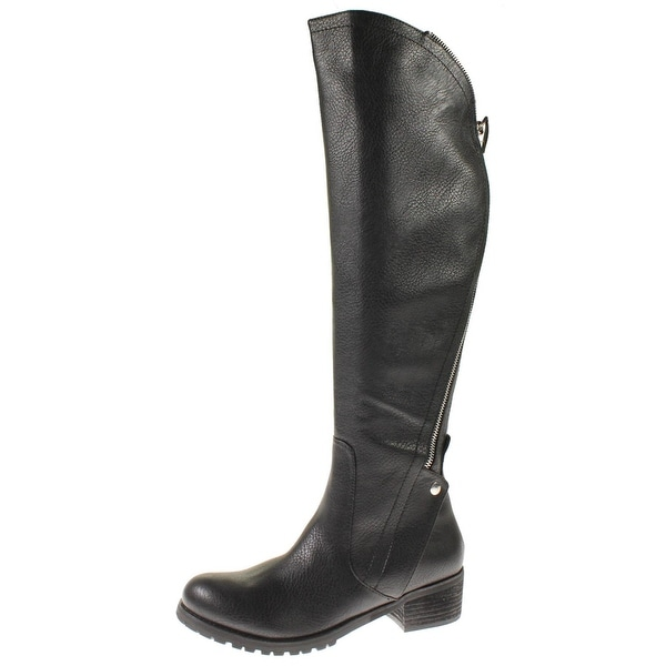 Steve Madden Womens Saydee Over-The-Knee Boots Textured Faux Leather - 7 medium (b,m)