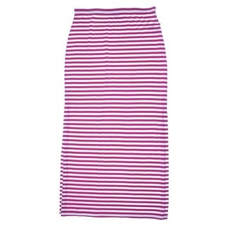MICHAEL Michael Kors Womens Modal Blend Striped Maxi Skirt - S