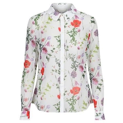 Ted Baker Womens Shivany Sheer Floral Shirt