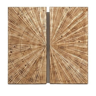 """36.25"""" Natural Carved Wood Wall Decor"""