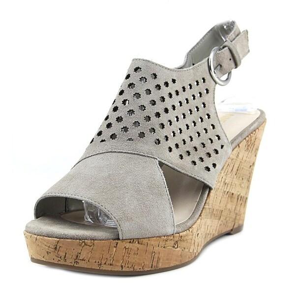 Nine West EN right Women Open Toe Leather Tan Wedge Sandal