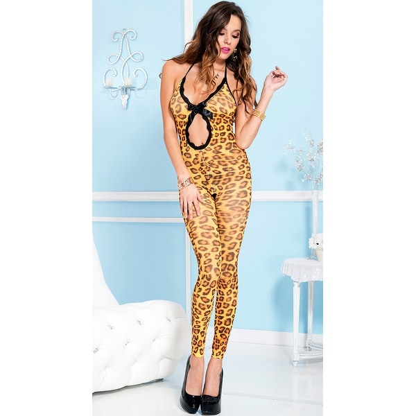 18a08b2079 Shop Cheetah Print Cut Out Bodystocking