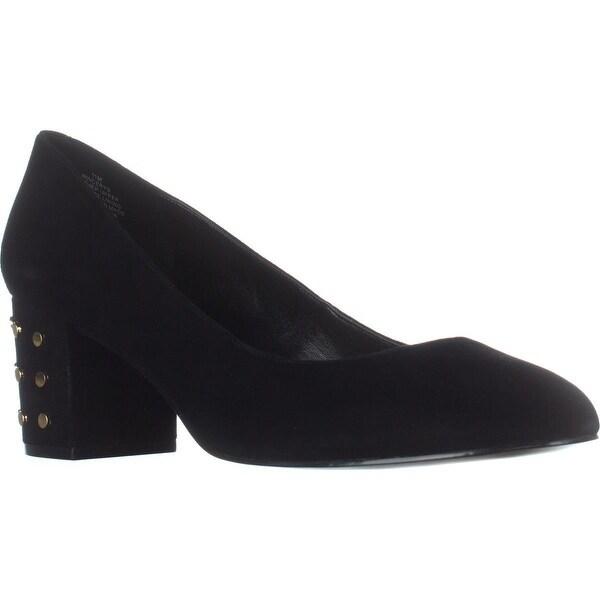 Nine West Cerys Studded Heel Classic Pumps, Black