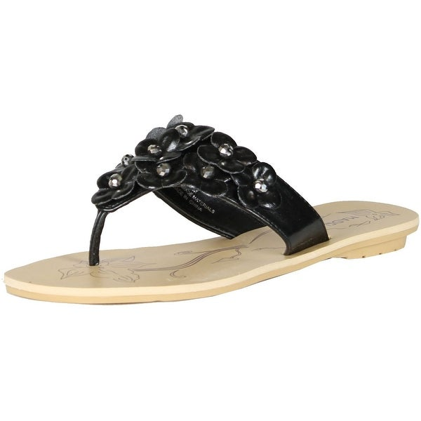 Madeline Stuart Womens Kittie Fashion Flip Flop Sandals