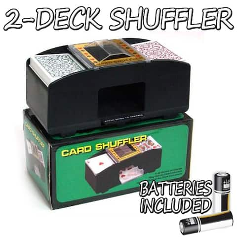 2 Deck Playing Card Shuffler w/ Batteries