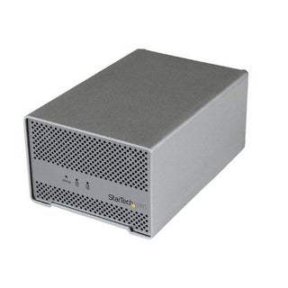 Startech Dual Bay External 2.5-Inch Hdd/Ssd Aluminum Thunderbolt Hard Drive Enclosure With Thunderbolt Cable And Bui