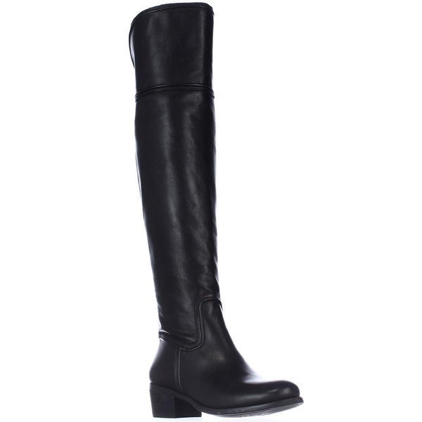 Vince Camuto Baldwin Round Toe Over the Knee Boots, Black