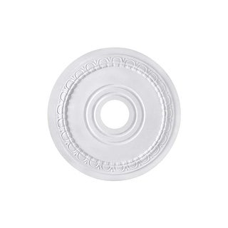 """Canarm FM-40 Egg & Dart Ceiling Medallion With 3-1/2"""" Center Opening - White - N/A"""