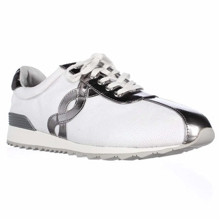 Easy Spirit Lexana Lace Up Sneakers - White/Silver