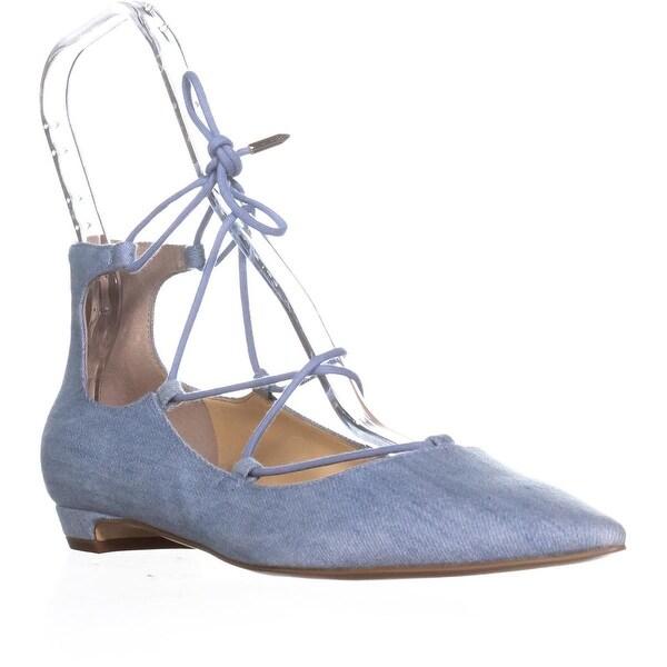 Ivanka Trump Tropica6 Lace Up Ballet Flat, Blue Multi