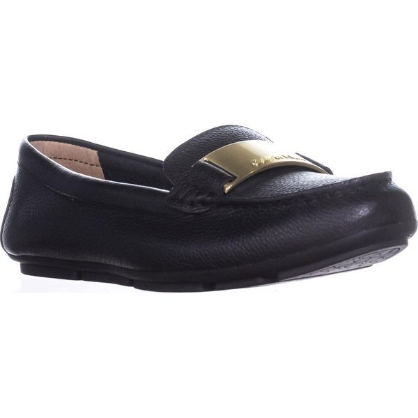 Calvin Klein Lisette Slip-On Dress Loafers, Black Leather