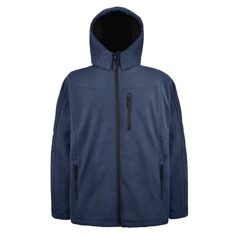 Victory Outfitters Men's 3 in 1 Softshell Jacket Removable Inner Fleece and Hood
