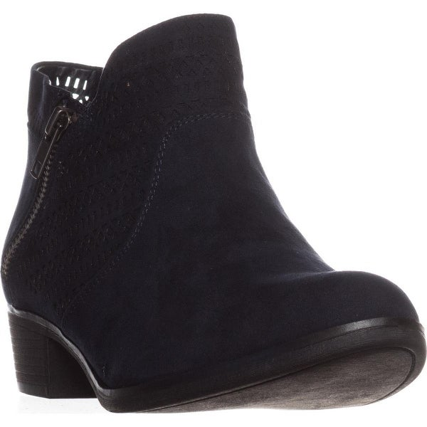 AR35 Abby1 Perforated Ankle Boots, Navy
