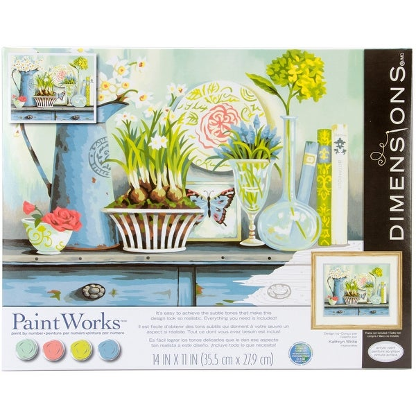 """Paint Works Paint By Number Kit 14""""X11""""-Vintage Collectibles"""