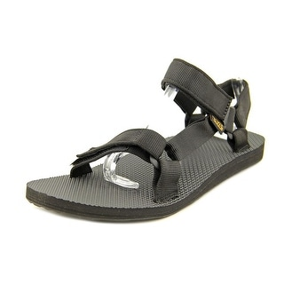 Teva Original Universal Men Open-Toe Canvas Black Sport Sandal