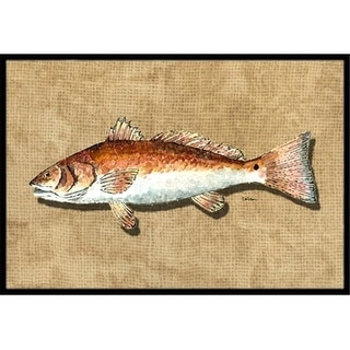 Carolines Treasures 8807JMAT 24 x 36 In. Red Fish Indoor or Outdoor Mat