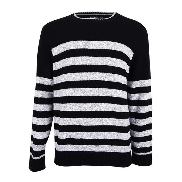 Shop Nautica Mens Breton Striped Sweater True Black On Sale