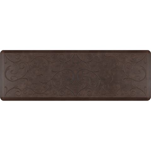 "WellnessMats Antique Bella Anti-Fatigue Office, Bathroom, & Kitchen Mat, Antique Dark, 72"" by 24"""