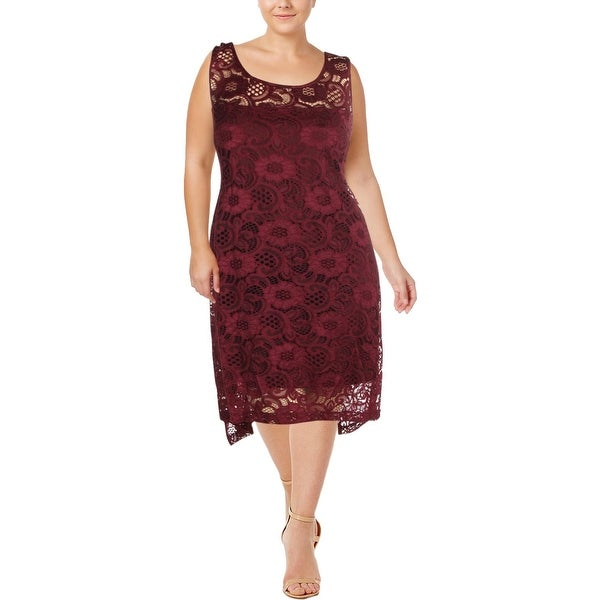 9bf3dd2ddd4c Shop Signature By Robbie Bee Womens Party Dress Lace Asymmetric - 3X ...