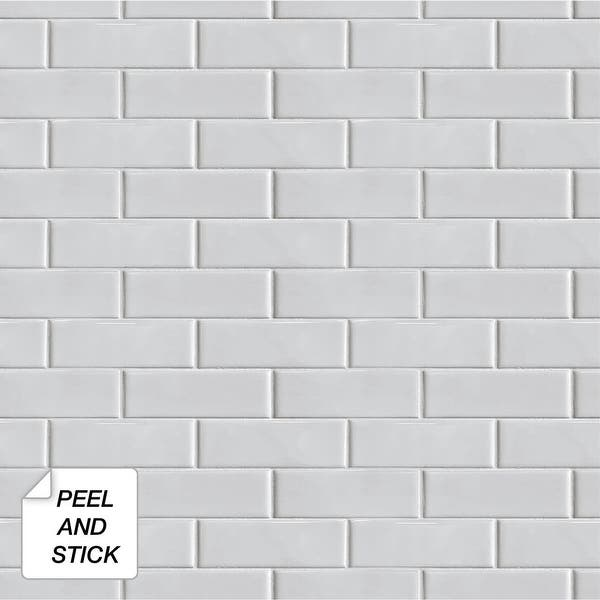 Shop Nextwall Subway Tile Peel And Stick Removable Wallpaper 20 5 In W X 18 Ft L Overstock 31455294