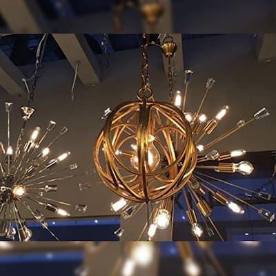 1 light Orb Pendant Light in Gold finish - Gold Finish