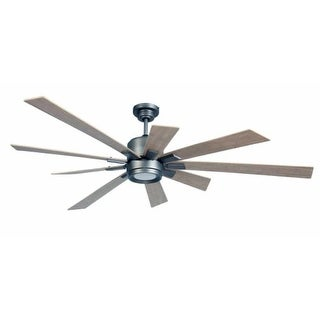 """Craftmade KAT72PT Katana 72"""" 9 Blade Ceiling Fan - Blades, Remote, and LED Light Kit Included"""