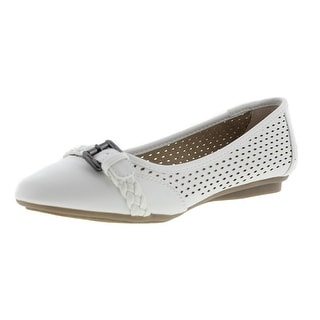 Cliffs by White Mountain Womens Jelly Faux Leather Slip On Flats