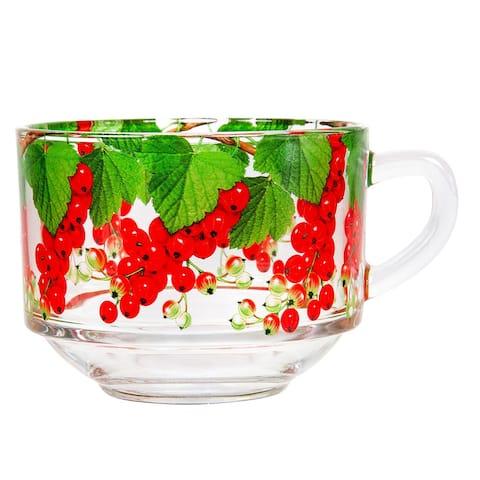 STP Goods Redcurrant Jumbo 18 fl oz Soup Coffee Tea Glass Mug