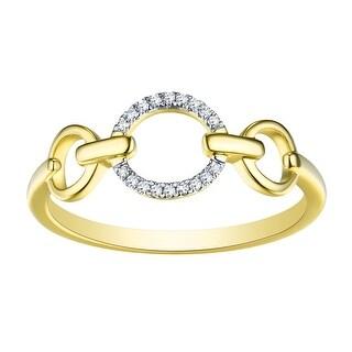 Prism Jewel 0.04Ct G-H/I1 Natural Diamond THREE Open Round Fancy Ring - White