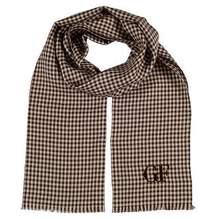 Gianfranco Ferre DU3C3308/2 Brown Checkered Scarf