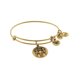 "Alex And Ani Women's Zodiac Gemini 3 Bangle Bracelet - 9"" - Gold"