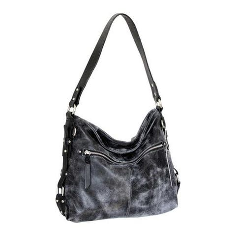 2fa2dc98f4 Nino Bossi Women's Ailsa Leather Shoulder Bag Black - US Women's One Size  ...