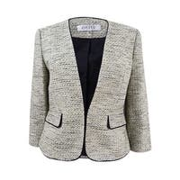 Kasper Women's Contrast-Trim Tweed Blazer - Limoncello Multi