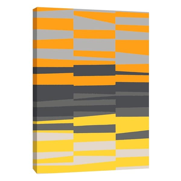 """PTM Images 9-105721 PTM Canvas Collection 10"""" x 8"""" - """"Monochrome Patterns 7 in Yellow"""" Giclee Abstract Art Print on Canvas"""