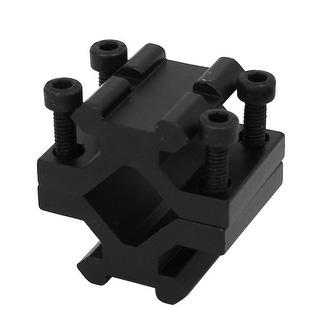 Flashlight Rifle Universal Dual Sides Rail Barrel Mount Tube Adapter Black