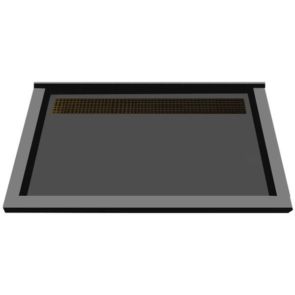 """Tile Redi RT3448BTC-PVC Redi Trench 48"""" X 34"""" Single Wall Shower Pan with Triple Threshold and 2"""" Rear Drain"""