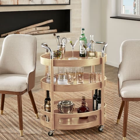 Haylee Oval Bar Cart by iNSPIRE Q Modern