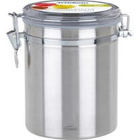 Stainless Steel Coffee Canister 52Oz-Silver