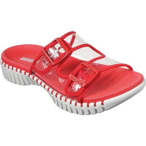 Shop Skechers Women's GOwalk Smart Miami Slide Sandal Red