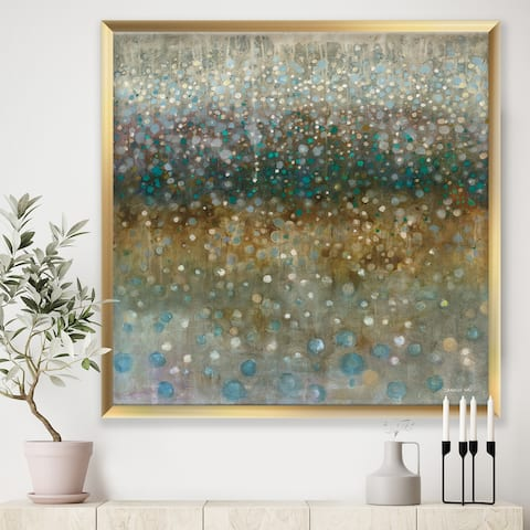 Designart 'Brown Rain' Modern Premium Framed Art Print