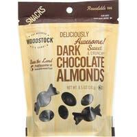 Woodstock Snacks - All Natural - Dark Chocolate Almonds - 8.5 oz - case of 8