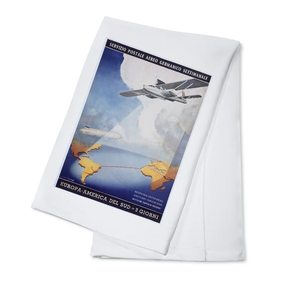 Shop Black Friday Deals On Deutsche Lufthansa Postale Heiestafs Vintage Ad 100 Cotton Towel Absorbent Overstock 18325236