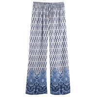 Women's Leaf Lounge Pants - Elastic Drawstring Waist Pajamas