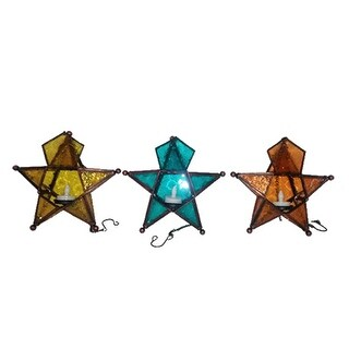 Smart Solar WY256B-2 Battery Operated Hanging Glass Star, Pack Of 12