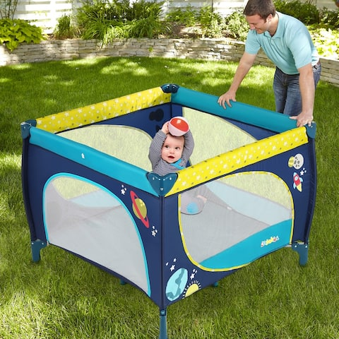 Baby Dog Playard Play Pen with Mattress Safety Baby Playpen with Door Activity Center - M