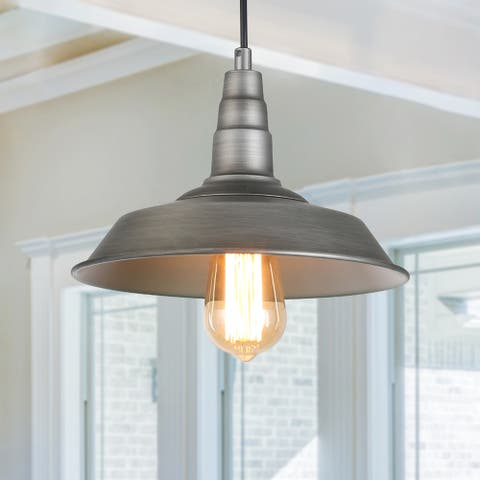 """The Gray Barn Heavenly Winds 1-light Hanging Rustic Ceiling Barn Pendant - D10.2""""*H6.3"""""""