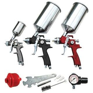 ATD Tools ATD-6900C HVLP Spray Gun Set with Face Masks, 9 Piece