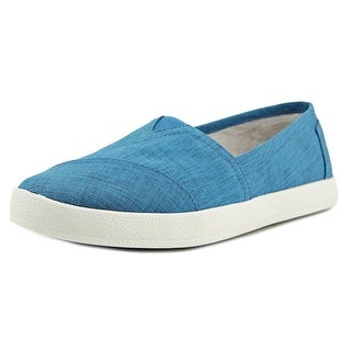 Toms Avalon Women Round Toe Canvas Blue Loafer
