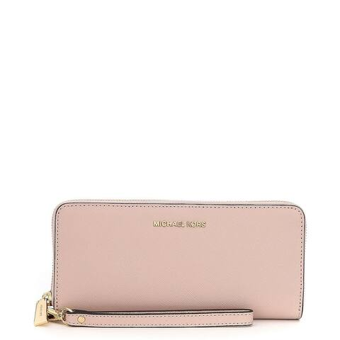18249cd82c71 MICHAEL Michael Kors Jet Set Travel Travel Continental Soft Pink Wallet