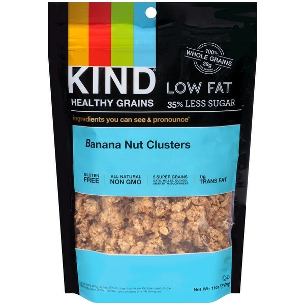 Kind Clusters - Granola - Healthy Grains - Banana Nut - 11 oz - Case of 6